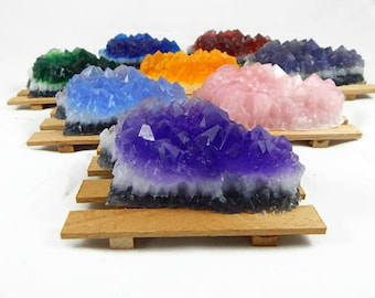 Quartz Crystal Soap & Soap Dish Set - Choose your Scent and Style