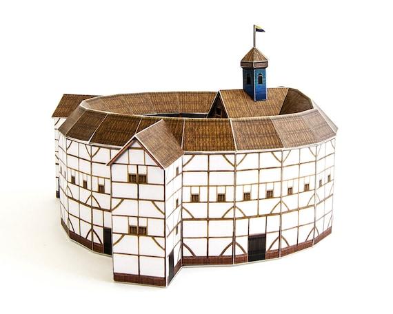 Globe theatre architecture paper model kit shakespeare globe malvernweather Image collections