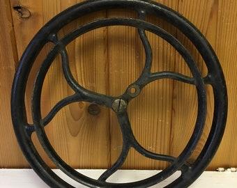 Vintage Large Treadle Sewing Machine Pulley Wheel