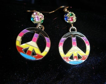PRIDE and Peace earrings to wear all year   REACT, OlympiaEtsy, FunkyAlternativeJewelry, GeekyFreakyUnique-y, SupportingArtists, WWWG