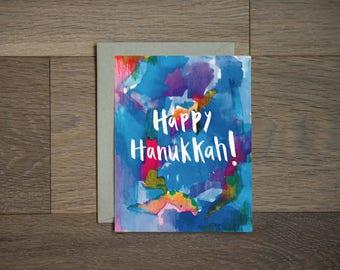 Carte de Hanukkah heureux: jolie carte