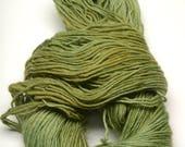 Hand-dyed, Wool Yarn, Worsted Aran, Single, Green, Moss Green, Pretty, Soft, Knitting supplies and Crochet Yarn