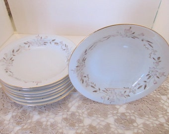 """SUMMIT FINE CHINA """"Joan"""" 7 5/8""""  Soup Bowls (Set of 8) - Made in Japan"""