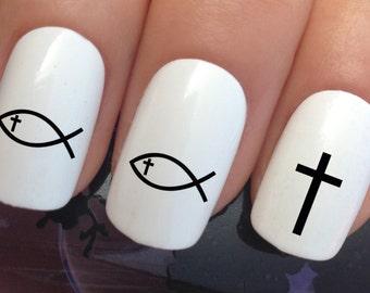 Fish Nail Stickers Etsy