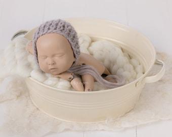 Washtub - cream, newborn props, newborn posing stool, baby photo prop, newborn photo prop, newborn prop, photography props