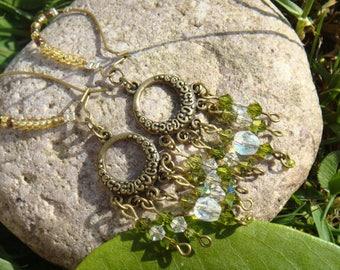 Retro Boho Chic swarovski earrings