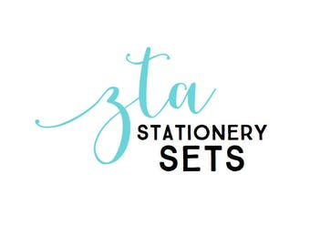 ZTA Custom Stationery Sets - Set of 10 notecards