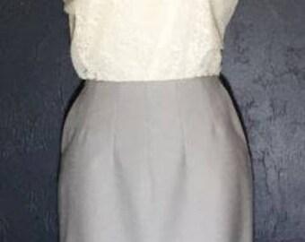 BANANA REPUBLIC Woman's Skirt w Pockets Gray Stretch 2