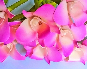 Hot Price, Polymer Clay Flowers Supplies Tropical Orchids for Handmade Gifts, set of 20 stems