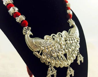 Oxidized Silver Necklace Set/ Oxidized Jewelry Set/ Navratri Jewelry/ Garba Jewelry/ Oxidized Necklace Set