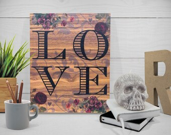 LOVE - Decorative hanging wooden board