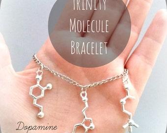 Molecule Jewelry Necklace Bracelet Anklet Keychain Serotonin Dopamine Acetylcholine Seratonin Science Chemistry Neuroscience Psychology DNA