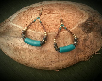 Tribal / etnic macramé earrings