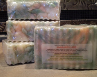 Mandarin Lime - Rustic Suds Natural - Organic Goat Milk Triple Butter Soap Bar - 5-6oz. Each