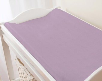 Carousel Designs Solid Mauve Changing Pad Cover