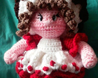 Crochet Miss Hot Fudge Sundae amigurumi doll Pattern Only