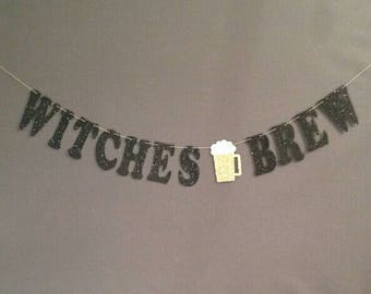 Halloween Decorations, Beer Witch Banner, Brew Master, Halloween Banner Witch Garland, Cheers Witches, Halloween Party Decorations