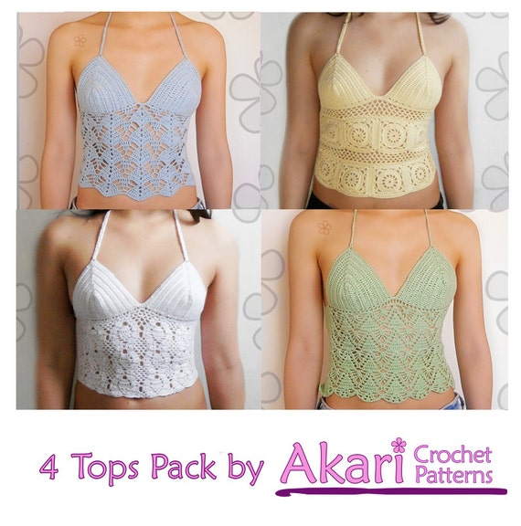 1 Pattern Free 4 Crochet Tops Top With Granny Squares 3