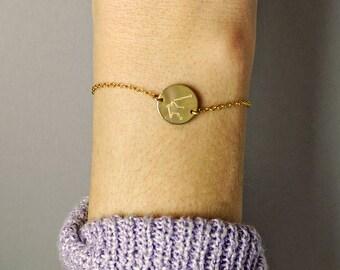Constellation bracelet, Aquarius Zodiac Jewelry, Astrology Zodiac bracelet, virgo, scorpio, sagittarius, capricorn bracelet Christmas gift