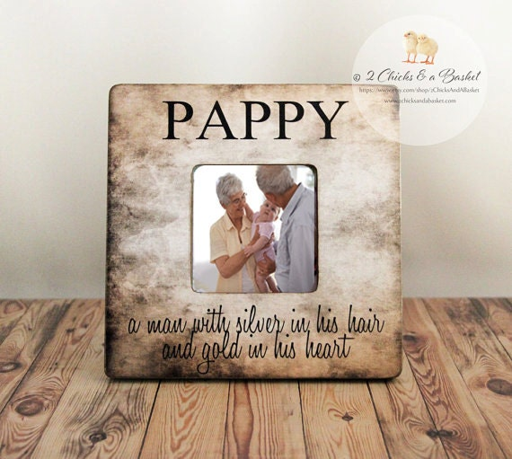 Custom Pappy Picture Frame, Rustic Frame, Fathers Day Gift ...