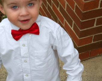 Red Satin Bowtie - Infant, Toddler, Boy-  2 weeks before shipping
