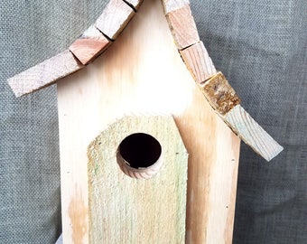 Decorate your own uniquely shaped birdhouse. Made with easy clean out and very durable. We ship fast!