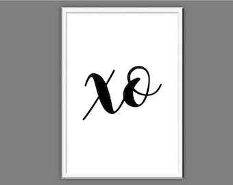 xo  Typography Wall Art Print Quote