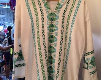 Vintage 60s Hippy Frock Shirt