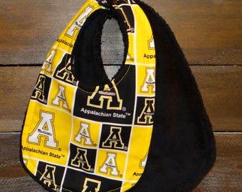 ASU Dribble Bib ~ Appalachian State University Teething Bib (6 - 24 months)
