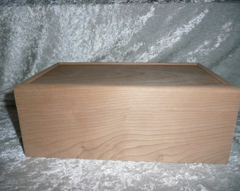 Cherry wood box with removable tray.