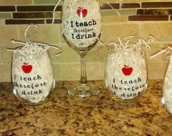 I Teach... Wineglass