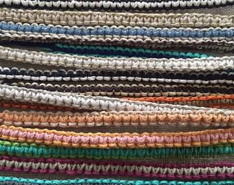 Tie On - Macramé Hemp Braclets - Pick Your Two Favorite Color(s)