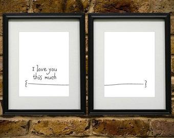 I love you this much - 8x10 DIGITAL PRINTABLE PDF
