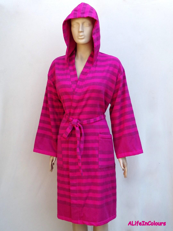 Women\'s black striped fuchsia pink colour Turkish cotton