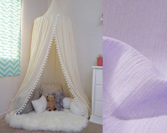 Pompom Play canopy in lavender/ hanging tent/ reading nook canopy/hanging canopy