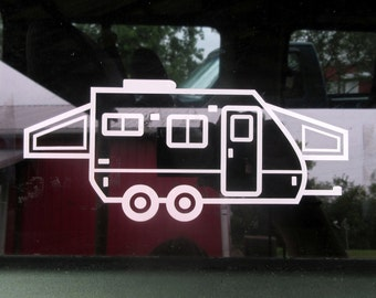 Hybrid Trailer, Hybrid Camper, Travel Trailer, Pop Up Camper, Camping, Camper Decor, Camper Decal, Trailer Sticker, Camping Decal, Camp