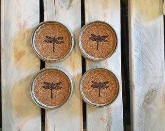 Dragonfly Coasters. Dragonfly gift. Housewarming. Gift