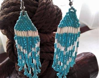 Beaded earrings for pierced ears,