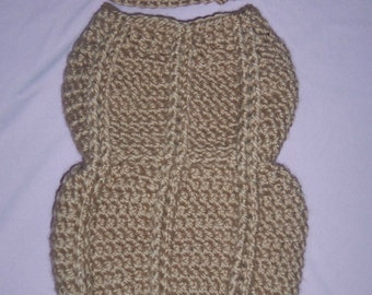 Crochet Newborn Peanut Cocoon & Hat Set