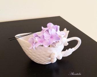 Wedding Hair Pin with Light Purple Hydrangea,Bridal Hair Pin,Wedding Accessories.
