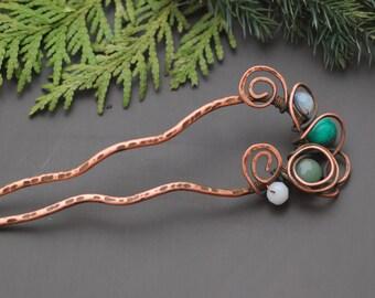 Bun holder Hair Comb Hair stick Wave Hair Fork Copper Hair Pin Metal Hair Stick Hair pin Accessories Women Gift wire wrap hair accessories
