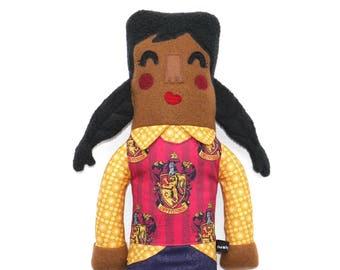 Aurore de Gryffondor maison peluche poupée, fille, harry potter, harry potter fan cadeau, des tresses, à colorier, câlin, adaptés aux enfants
