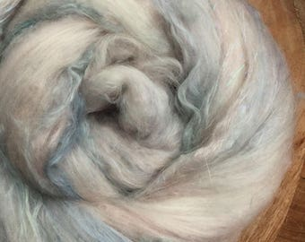 "Hand carded batt ""GLACIER"" with new *MINT fibre"" spinning felting weaving - made to order"