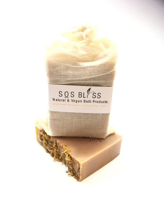 Sandalwood Patchouli Triple Butter Soap