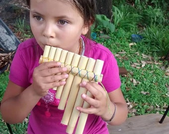 Bamboo pan pipes / bamboo flute / pan flute