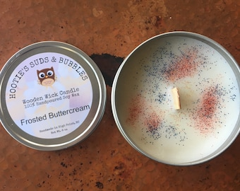 Wood Wick Soy Wax Candle - Frosted Buttercream