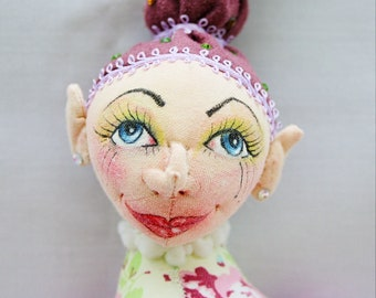 Juggler OOAK Cloth Art Doll