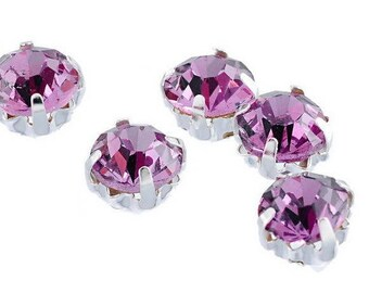 "Pink rhinestones to put on, sew ""kitten"" type in packs of 20, 3 mm, set"