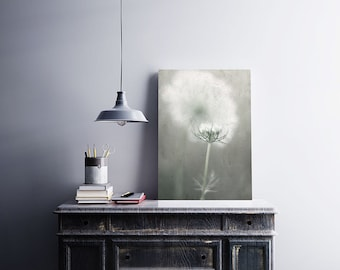 Rustic Wall Art Print, Nature Photography, Queen Anne's Lace Print, Grey White Wall Art,  Home Decor Print, Floral Photo Print