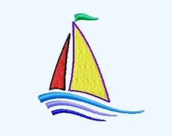 Embroidery pattern - Sailing boat